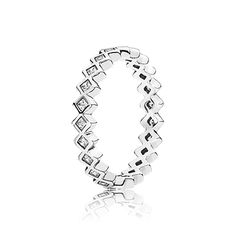 PANDORA | Square eternity silver ring with cubic zirconia