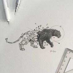 Intricate Geometric Animal Illustrations by Kerby Rosanes Kerby Rosanes aka Sketchy Stories is an illustrator from Manila, Philippines. The young sketch artist specializing in amazingly detailed and. Animal Sketches, Animal Drawings, Art Drawings, Animal Illustrations, Geometric Tattoo Design, Geometric Drawing, Geometric Animal, Leopard Tattoos, Tattoo Studio