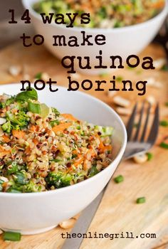 14 ways to make quinoa... not boring