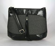 kabelka Rita čierno-šedá