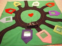 car neighborhood playmat