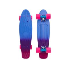 "Penny Complete Skateboards Melt 22"" Fade - Blue/Purple/Pink : Spray painted in three cool colours starting with a deep sea blue, transitioning to the darkest of purples and a deep musky pink this new"