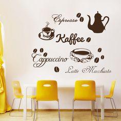 Great Wandtattoo Kaffee Cappucino Espresso Latte Macchiato