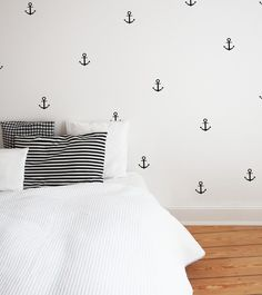 maritime Anker Wandsticker // maritime anchor wall sticker by ELLAVUE via DaWanda.com
