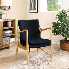 - Makeshift Upholstered Lounge Chair in Birch Black
