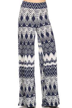 Tribal Chevron Palazzo Pants  http://www.ebay.com/itm/Tribal-Chevron-Print-Wide-Leg-High-Waist-Fold-Over-Palazzo-Pants-Lounge-Wear-/400794077878?ssPageName=STRK:MESE:IT
