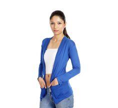 Teemoods Stylish Royal Blue With Pocket Shrug