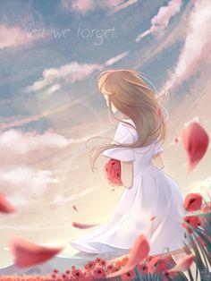 Lest We Forget by blackxxcherry on DeviantArt Anime Girl Cute, Beautiful Anime Girl, Anime Art Girl, Manga Art, Anime Girls, Got Anime, Anime Oc, Manga Anime, Hestia Anime