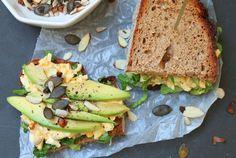 Lieblingsstulle: majofreier Eiersalat auf dem Brot