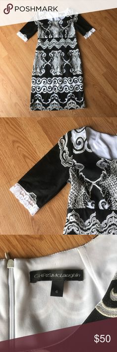 Black and White Lace Dress I accept all reasonable offers! Chris McLaughlin Dresses