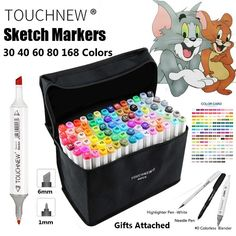 promo touchnew 30 40 60 80 168 color art marker pen artist dual head markers sketch set watercolor #watercolor #pen
