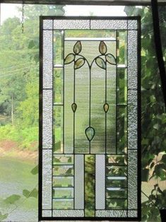 Reserved for sue cottage style bevelled stained glass panel Stained Glass Door, Custom Stained Glass, Stained Glass Designs, Stained Glass Panels, Stained Glass Projects, Stained Glass Patterns, Leaded Glass, Mosaic Glass, Art Nouveau