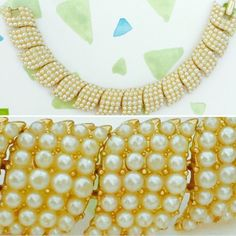 """HP Vintage Crown Trifari Pearl Signed Bracelet Vintage Crown Trifari Faux Pearl Signed Bracelet ---  Goldtone --- 7"""" length --- 3/4"""" width ---All pearls accounted for --- Some of the gold color has rubbed off on the inside as pictured --- Good vintage condition --- Manufactured in the late 50's to late 60's --- Trifari Mark has crown over T as well as copyright mark as pictured ---  thank you for visiting my closet and please feel free to ask any questions Vintage Jewelry Bracelets"""