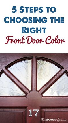 How to pick your front door color.  I NEEDED this!