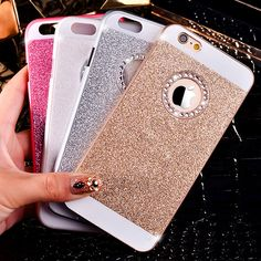 New Hot Fashion Luxurious Design Bling Sparkling Crystal Rhinestone Diamond Mobile Phone Case Cover For iPhone 4 4s 5 5s 6 6s [Affiliate]