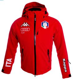 Kappa Men Italian Team FISI Jacket – Red
