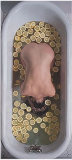 Lee Price: American Figurative Realist Oil Painter Self Portrait In Tub With Lemon Slices III Oil on Linen Lee Price, Design Visual, Kunst Online, Realistic Paintings, Oil Painters, Figure Painting, Belle Photo, Art Inspo, Contemporary Art