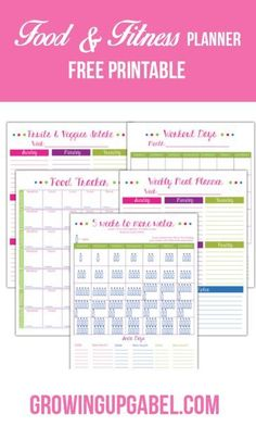 """Need help avoiding """"hanger""""? Print this free fitness and food planner to help plan meals, track food and water, schedule work outs and more! #Ad #ILoveSilkSoy"""