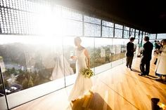The deYoung rents out spaces around the museum for weddings.