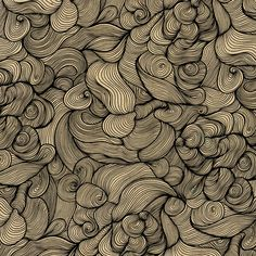 The Power of Waves, seamless pattern by Primudala.
