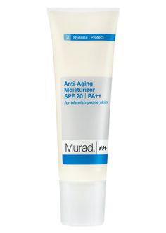 Murad Anti-Aging Moisturizer SPF 20 PA++ For Blemish-Prone Skin: Click to go to SkincareDupes.com to view possible dupes!