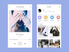 Login & Choose Gender designed by Pelly Liu. User Interface Design, Ui Ux Design, Mobile Web Design, Splash Screen, Mobile App Ui, Music App, Ui Web, Application Design, Web Layout