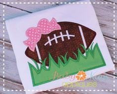 Little girls love to support their football team too! This fun design is great for any little girl football fan.