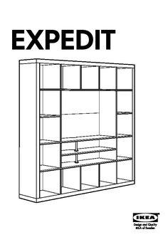 Plan De Montage Meuble Tv Expedit Ikea : Expedit Tv Storage Unit Black-brown – Ikeapedia