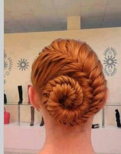 this is such a cool twist on a braided updo