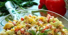Dużo planów.  Dużo energii.  Mnóstwo pozytywnych myśli.  To chyba szczęście... :)      Sałatka wręcz banalna. Makaron, kurczak, warzywa. ... Tortellini, Pasta Salad, Ethnic Recipes, Food, Pies, Crab Pasta Salad, Meals, Noodle Salads, Yemek