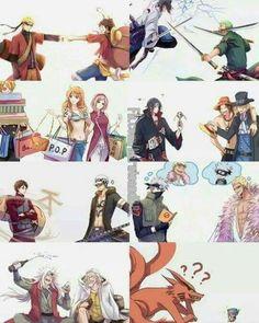 One piece x Naruto Shippuden