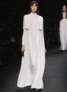 Valentino - nightwear inspired bridal gown, beautifully simple #WeddingDress