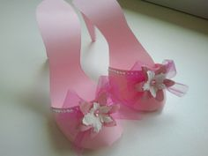 pink paper shoes