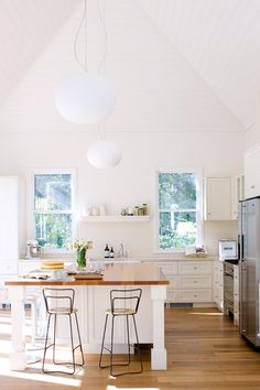 high ceilings, white #kitchens