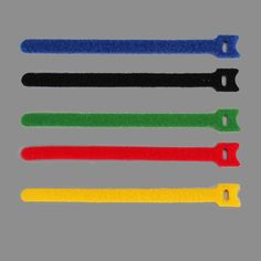 10PCS per Bag Blue Yellow Black Red Green Reuse Velcro Cable Ties  #Affiliate