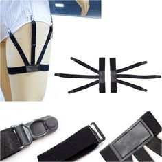 New Hot Mens Shirt Stays Holder Garters Belt Suspender Braces Leg Thigh Elastic Tirantes 1pair Flesh Color Shirt Suspender Suitable For Men And Women Of All Ages In All Seasons Men's Accessories