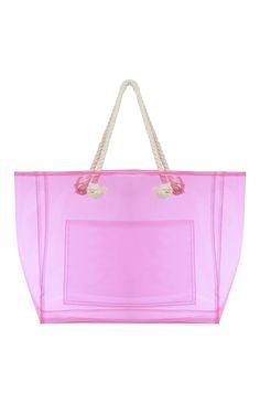 Bolso shopper rosa transparente