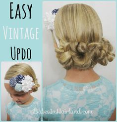 Easy Vintage Updo - Babes In Hairland