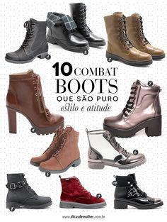 Combat boots: como incluí-las no look com muito estilo Combat Boots, Ankle, Shoes, Fashion, Shoes Boots Combat, Attitude, Shopping, Boots, Style