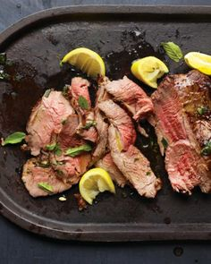 See the Grilled Leg of Lamb with Garlic and Mint in our  gallery