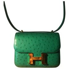 HERMÈS Constance ostrich handbag