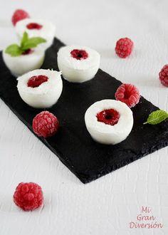 Mi Gran Diversión: Bombones helados de frambuesa y yogur