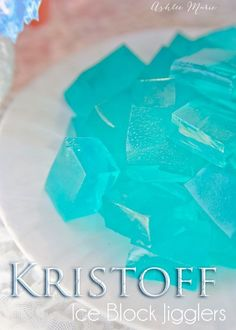 we love Frozen birthday party food, like these Kristoff ice cubes aka from scratch jigglers