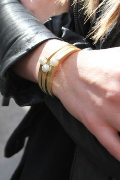 I could wear this Jenny Bird pearl cuff everyday!