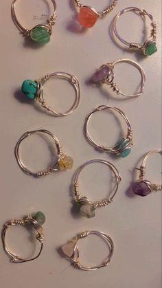 Hippie Jewelry, Cute Jewelry, Diy Jewelry, Jewelery, Jewelry Accessories, Jewelry Making, Trendy Jewelry, Hippie Rings, Ring Making