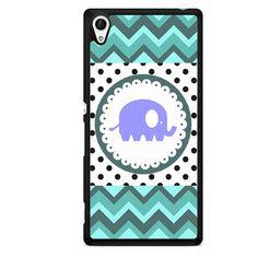 Polkadots Cute Elephant TATUM-8852 Sony Phonecase Cover For Xperia Z1, Xperia Z2, Xperia Z3, Xperia Z4, Xperia Z5