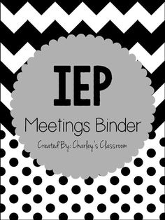 Special education teachers, as well as regular education teachers, can have quite the caseload of special education students. Hopefully, my IEP Meetings Binder will take away some of the stress for planning an upcoming IEP meeting for you as it has for me! I use this product at the beginning of every year and can say I have successfully stayed organized and on top of all of my IEP meetings! ($6.00) Repinned by SOS Inc. Resources pinterest.com/sostherapy/.