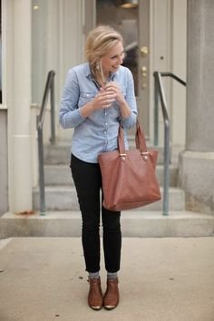 Cropped pants with socks and booties