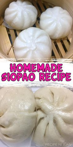 Siopao is a well-loved snack in the Philippines. The Siopao Recipe was introduced to the Filipinos by Ma Mon Luk who has a very interesting story on the origin of this delectable sandwich. Siopao or s Filipino Appetizers, Filipino Desserts, Pinoy Food Filipino Dishes, Easy Filipino Recipes, Thai Street Food, Pork Recipes, Asian Recipes, Cooking Recipes, Vegetarian Recipes