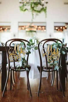 """Mr and Mrs Chair Signs - Wooden Wedding Sign - Wedding Chair Signs -Please Enter your phone number in the """"NOTE to the seller"""" Wedding Chair Signs, Wooden Wedding Signs, Wedding Chairs, Wooden Signs, Rustic Wedding, Wedding Place Names, Wedding Place Settings, Wedding Stuff, Bentwood Chairs"""